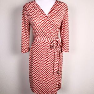Banana Republic Wrap Dress Red Long sleeves Small